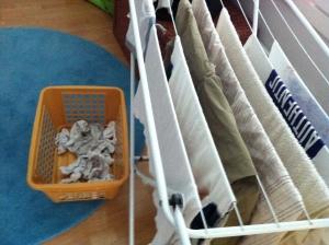 Kuivuu ne pyykit ilman ripustamistakin.